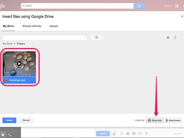 Select the video as a Drive Link.