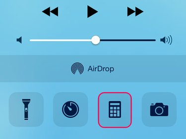 Open the Calculator app in the Control Center to test the touchscreen.