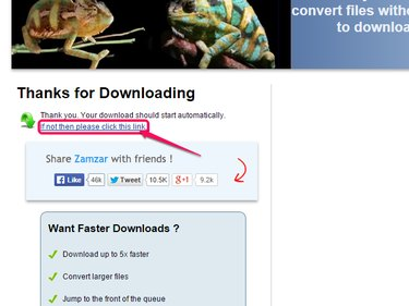 Click the download restart link if the download doesn't begin automatically.