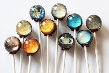 Photo of Vintage Confections planet lollipops