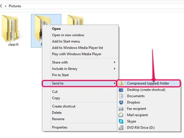 How to compress a folder into a ZIP file.