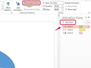 Use Play From to see how the animation effect looks on the slide.