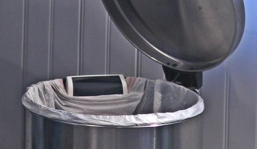 GeniCan on a garbage can