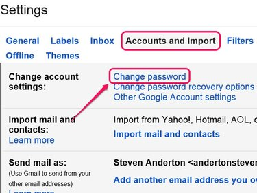 Click Change Password Recovery Options to manage your account recovery settings.