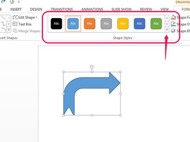 Select a shape style to change the arrow's fill and style.