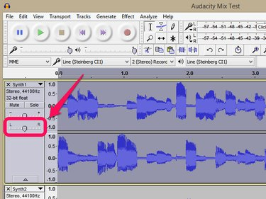 The Panning Control on an Audio Track