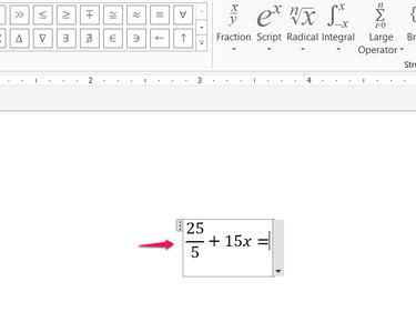 Equations format automatically.