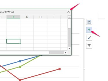 Close the spreadsheet and add elements.