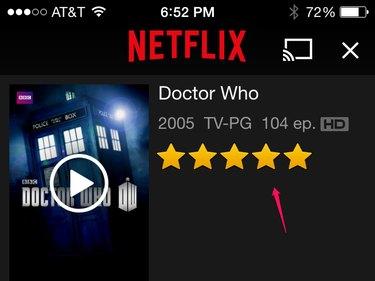 Netflix on iOS.