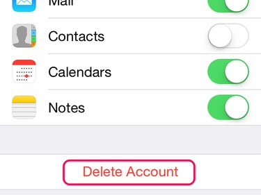 Select Delete Account to start the deletion process.