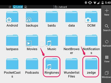 Find your Ringtone folder or Folder of the App from which you get  your ringtones.