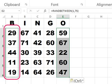 Copy the function to all 25 card cells.