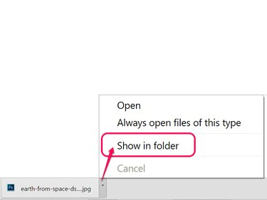 Select Show in Folder.