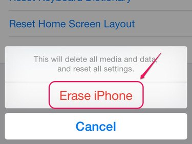 Delete your iPhone data and settings.