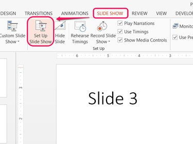 Open the slide show settings.