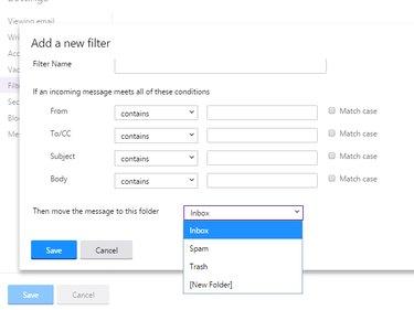 Adding a filter