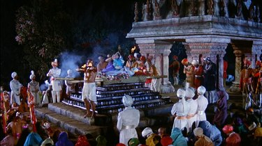 Still of a sacrificial ceremony in Around the World in 80 Days.
