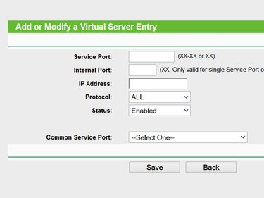 Port forwarding with TP-LINK