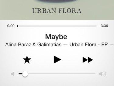 Playback controls in iTunes Radio