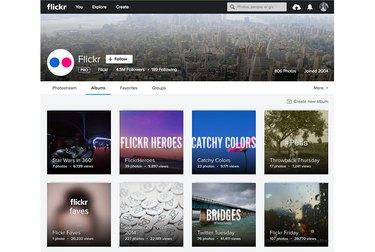 Flickr album view