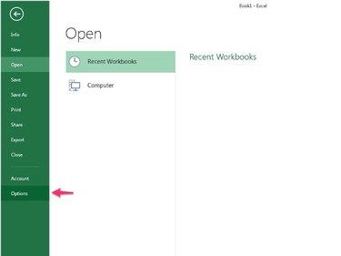 Excel File menu