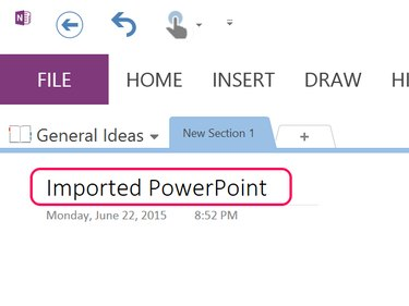 Insert a new page in OneNote.