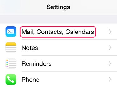 Open mail settings
