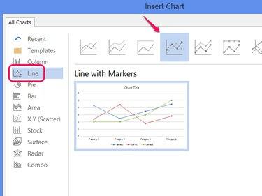 Line chart styles.