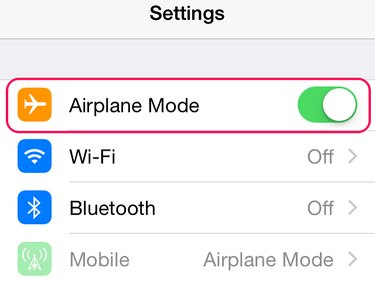 Tap Airplane Mode to turn it on.