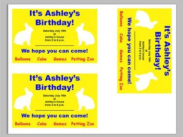 Invitations ready to print