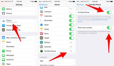 Find My iPhone requires a simple toggle of a switch.