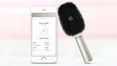 Hair Coach is a hair brush that includes sensors.