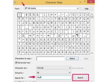 How to insert symbols using Character Map