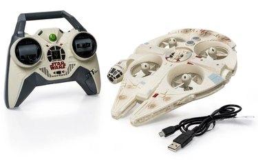 The Air Hogs Star Wars Millennium Falcon drone.