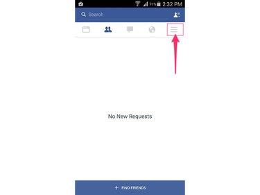 Open the main menu on the Facebook app.