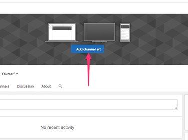 When you upload a header, YouTube shows you how it'll look on various devices.