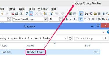 Load a backup file.