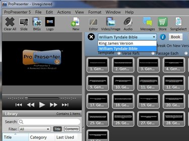 Two bibles in ProPresenter 5.