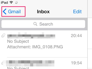 How to find email folders on an iPad