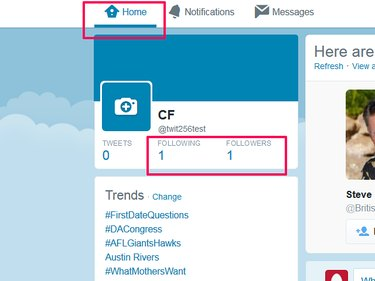 Where to find following and followers lists on Twitter