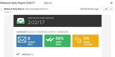 Screenshot of Mailtrack report