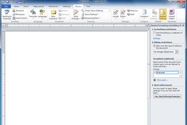 A screenshot of Microsoft Word