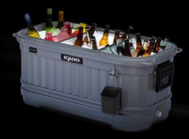Igloo Party Bar at night