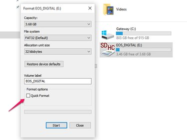 Formatting the Memory Card