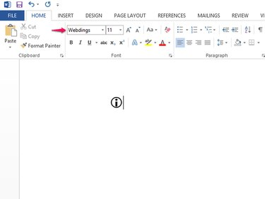 Type an i to make an information icon.