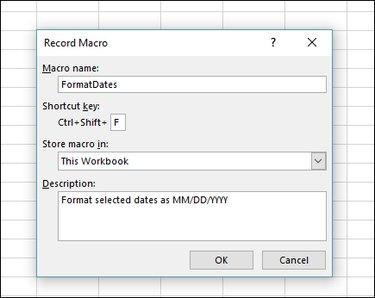 Excel Record Macro Box