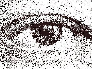 a stippled eye