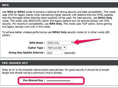 D-Link WPA options