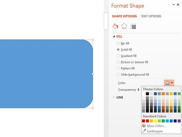 Select a color for the shape.