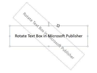 Rotate text box.
